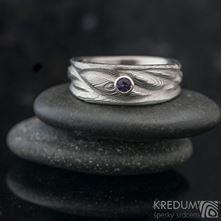 Obrázek Zásnubní prsten Víla vod a broušený kámen