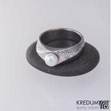 Obrázek Zásnubní prsten Gracia a pravá říční perla