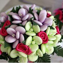 Obrázek Květiny z mandlí a čokolády
