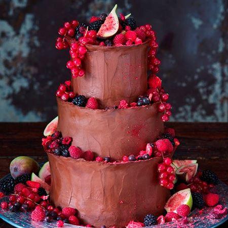 Obrázek z Čokoládový svatební raw dort